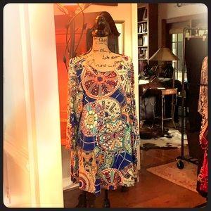 Cool print dress, beautiful colors!
